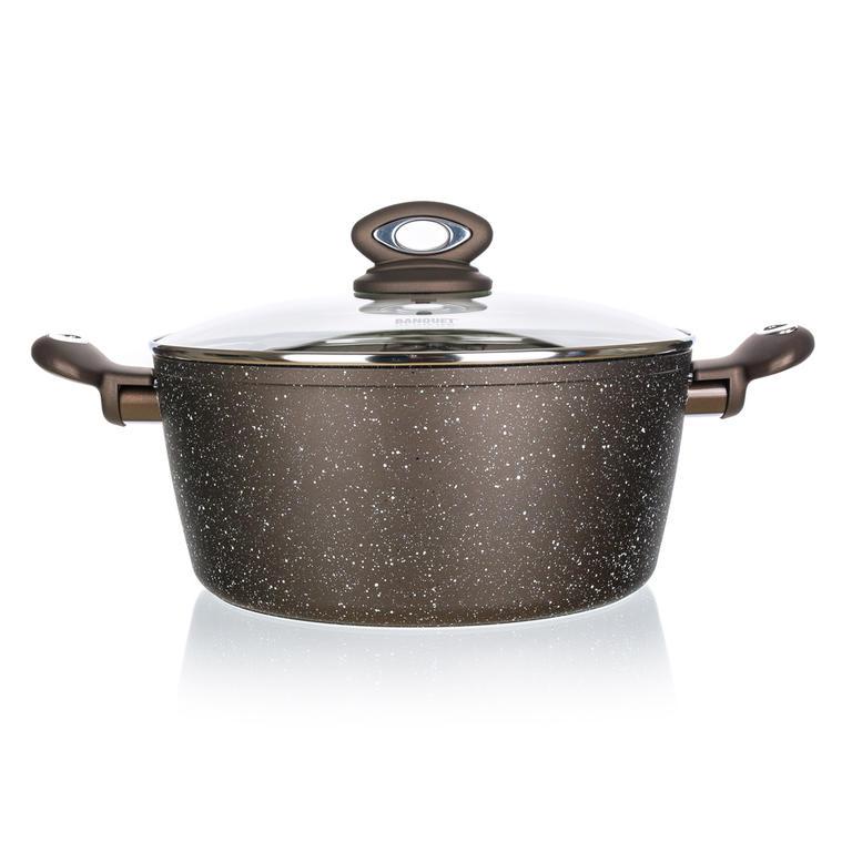 Banquet Kastrol s nepřilnavým povrchem Premium Dark Brown 24x10,5 cm xl s poklicí