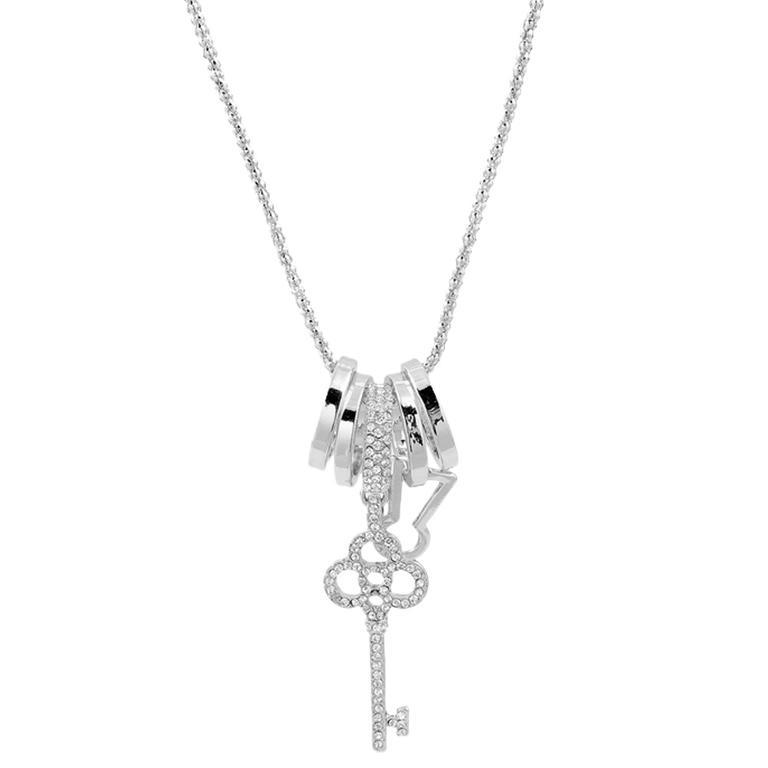 Náhrdelník s přívěškem ve tvaru klíče stříbrný