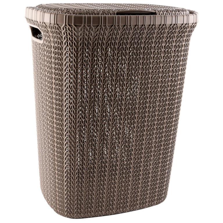 CURVER KNIT koš na prádlo 57L - hnědý