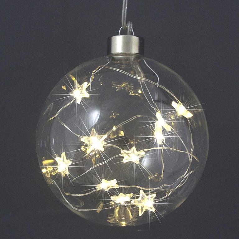 Vánoční světelná koule s 10 LED hvězdičkami