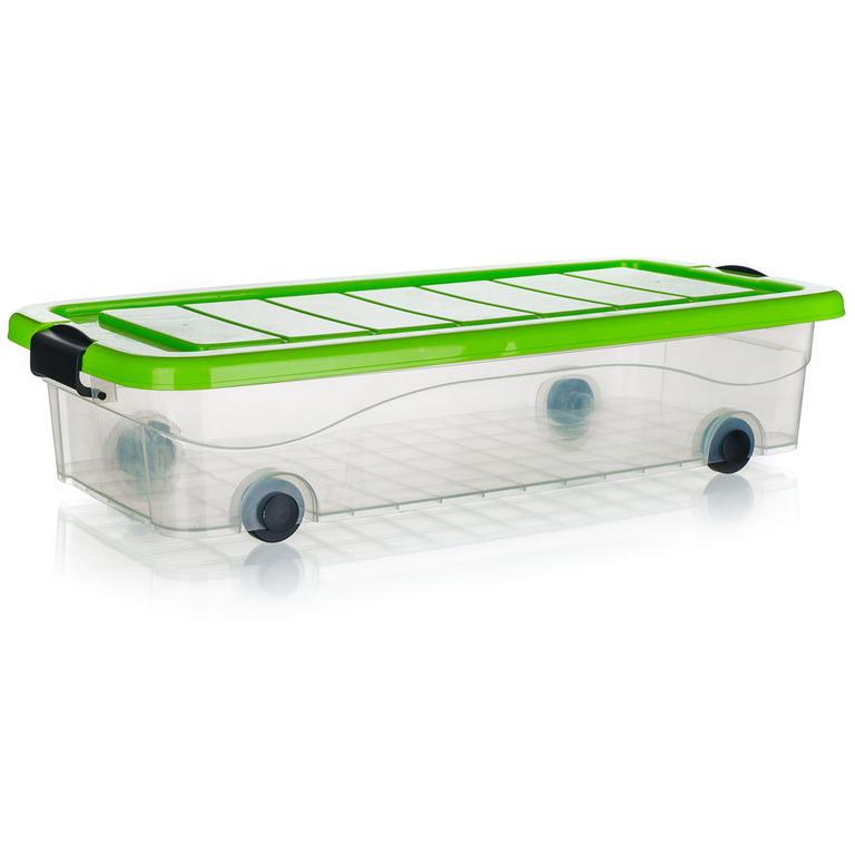 BRILANZ Box úložný pod postel na kolečkách PYRAMIDA 30 l, zelený