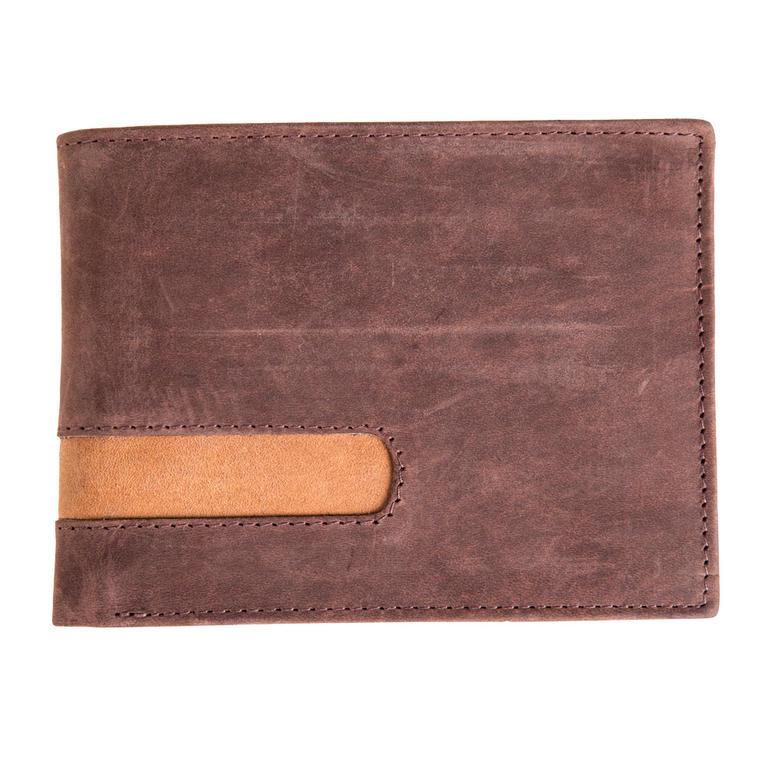 5d975f33026 Pánská kožená peněženka hnědá - decoDoma