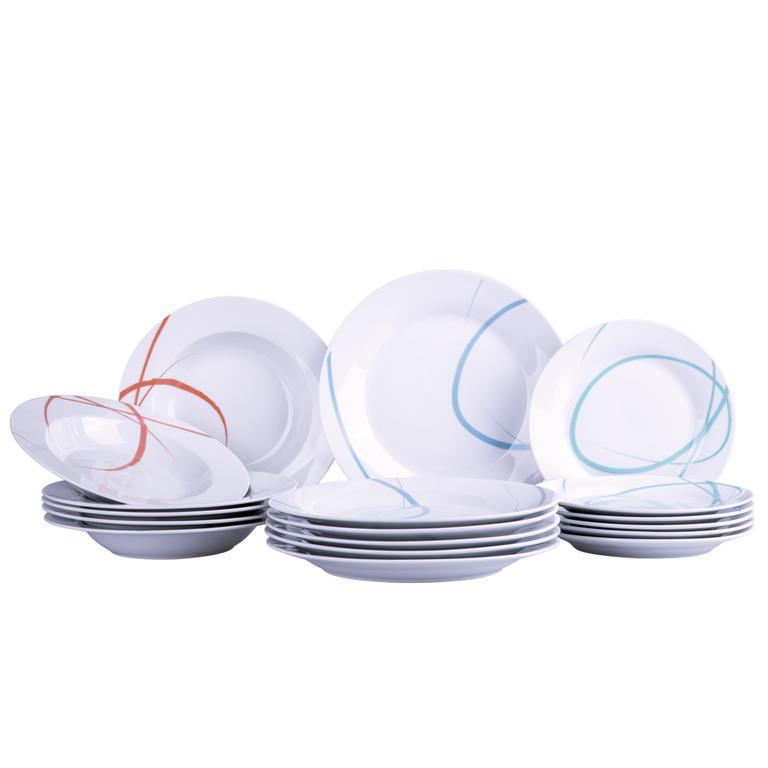 Banquet porcelánová sada talířů PASTEL 18 ks