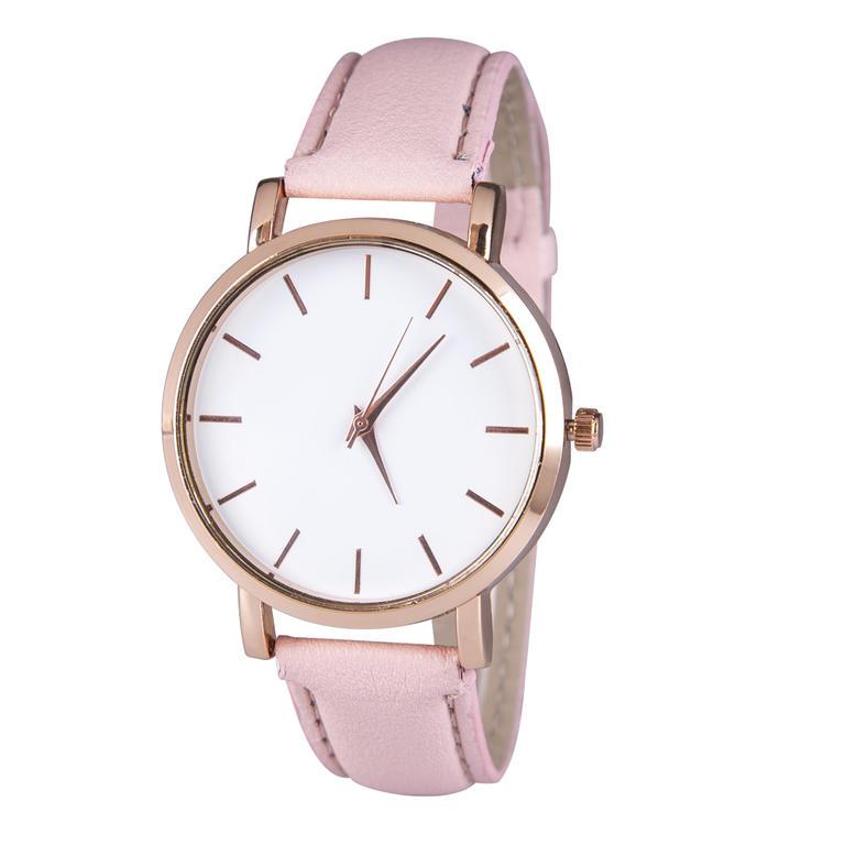 Dámské hodinky s růžovým páskem