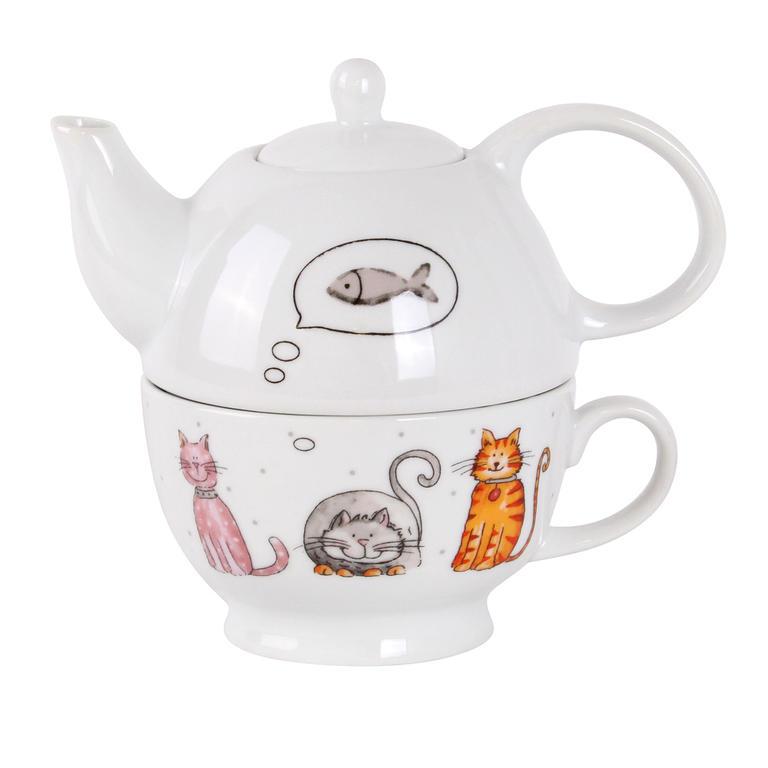 Kitos konvička na čaj se šálkem Kočka 470 ml 360 ml