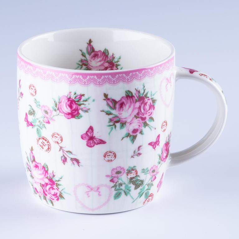 Home Elements Porcelánový hrnek Růže 300 ml