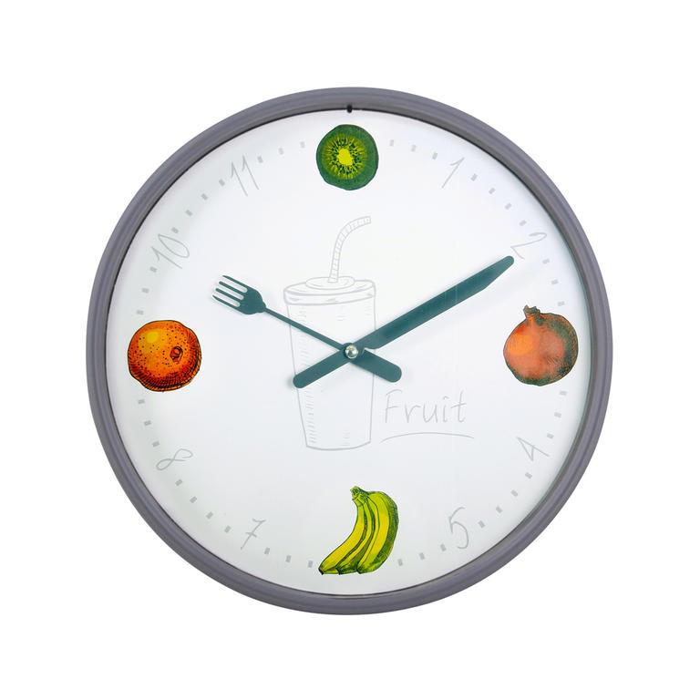 Nástěnné hodiny OVOCE 25 cm - decoDoma 199671dd60