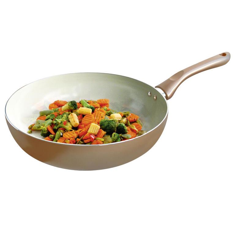 Toro pánev wok keramika champagne 28 cm