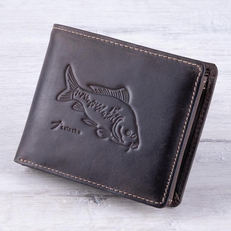 Pánská kožená peněženka KAPR tmavě hnědá