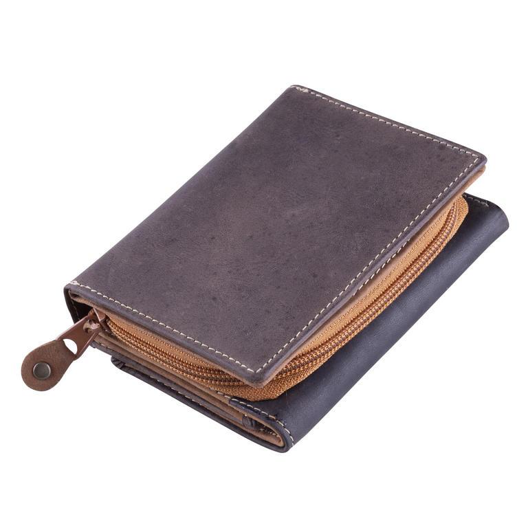 ddb3e09eb4b Kožená univerzální peněženka hnědá - decoDoma