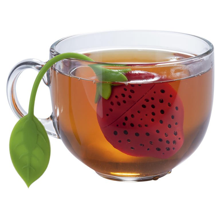 KingHoff Silikonové sítko na čaj JAHODA