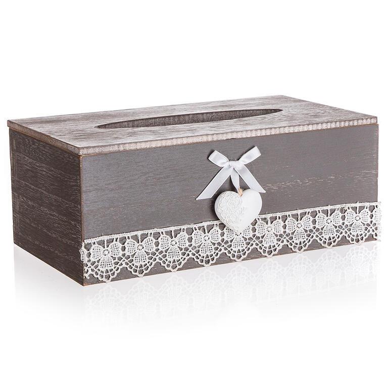 Dekorativní box na papírové kapesníky LACEWORK