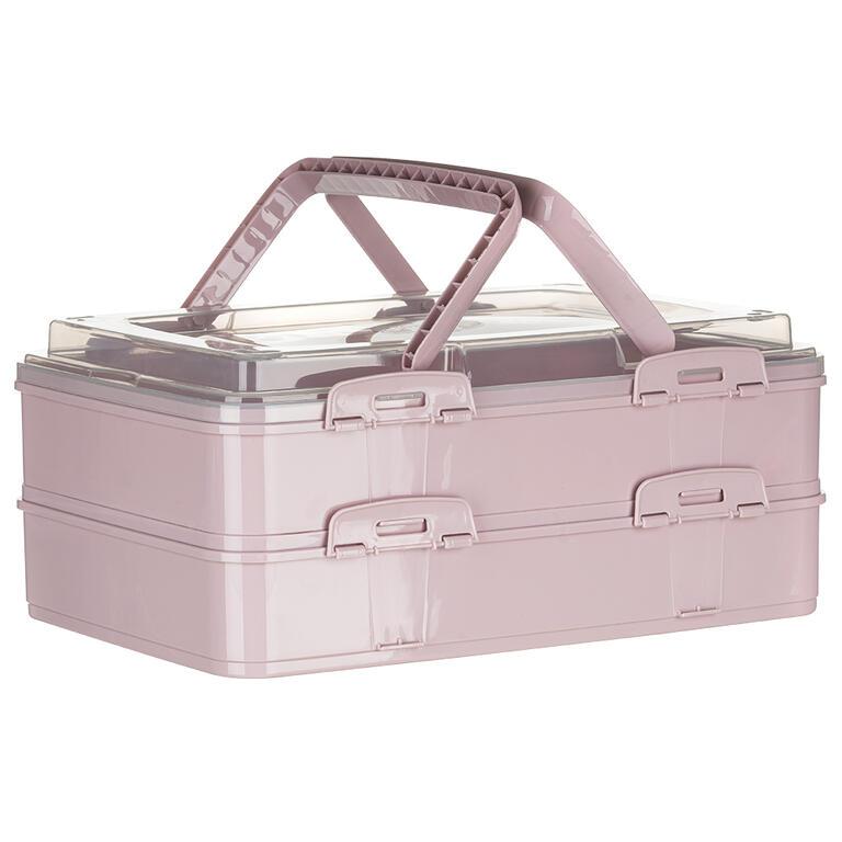 Partybox dvoupatrový růžový