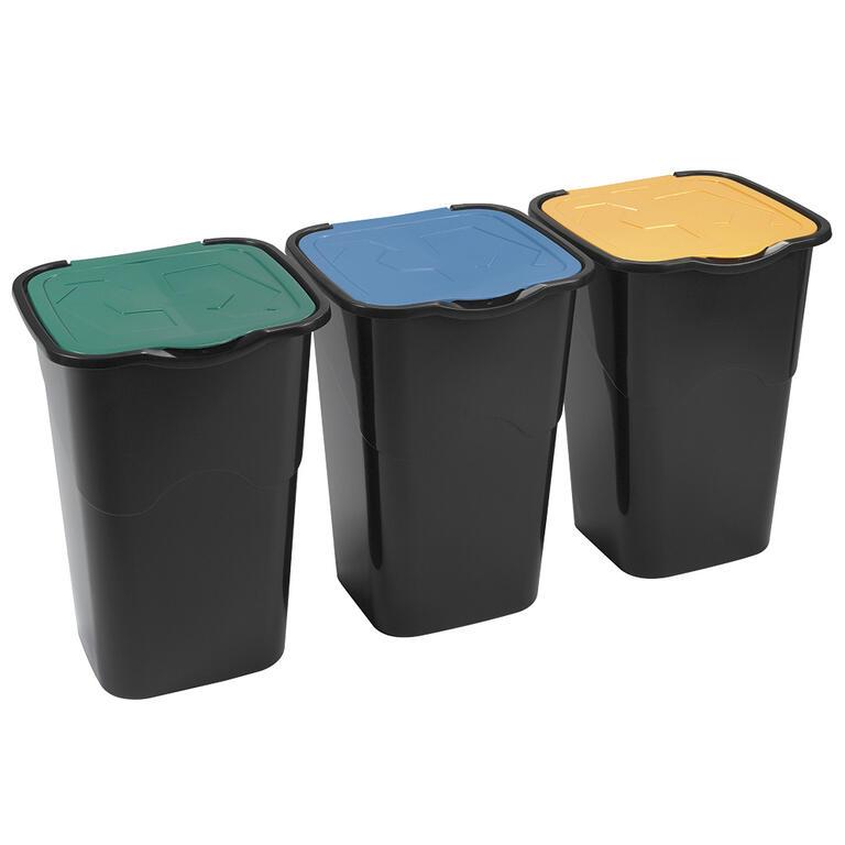 Koše na tříděný odpad, sada 3 ks
