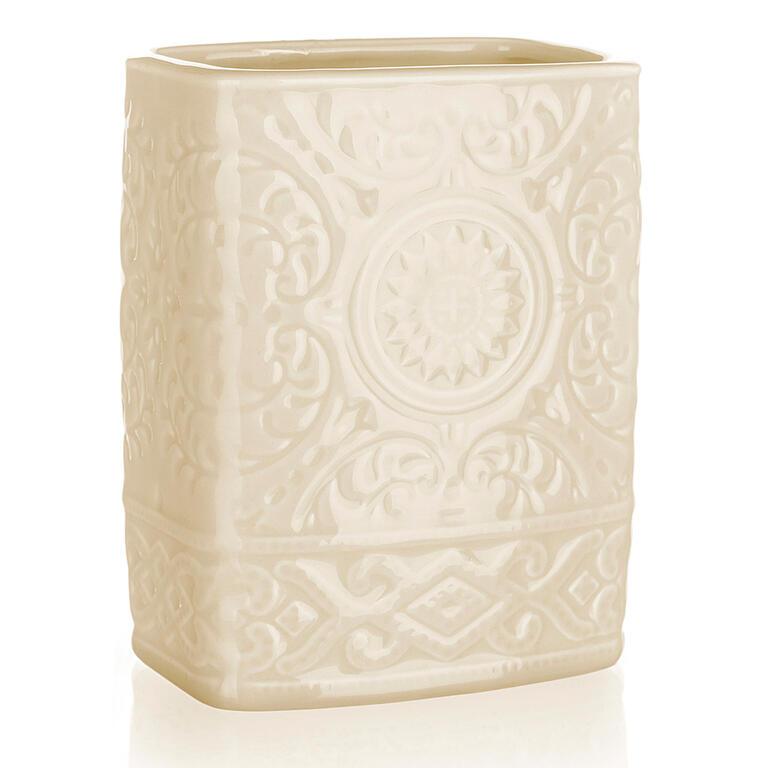 Kelímek na kartáčky keramický béžový