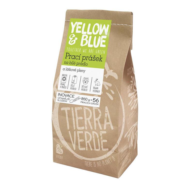 Tierra Verde Prací prášek na bílé prádlo a pleny 850 g