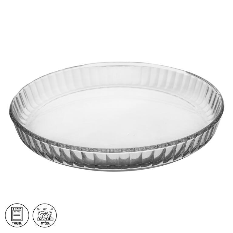 Levně Skleněná koláčová forma 27,5 cm