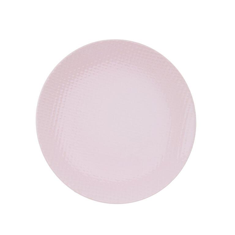 Keramický dezertní talíř RELIEF růžová