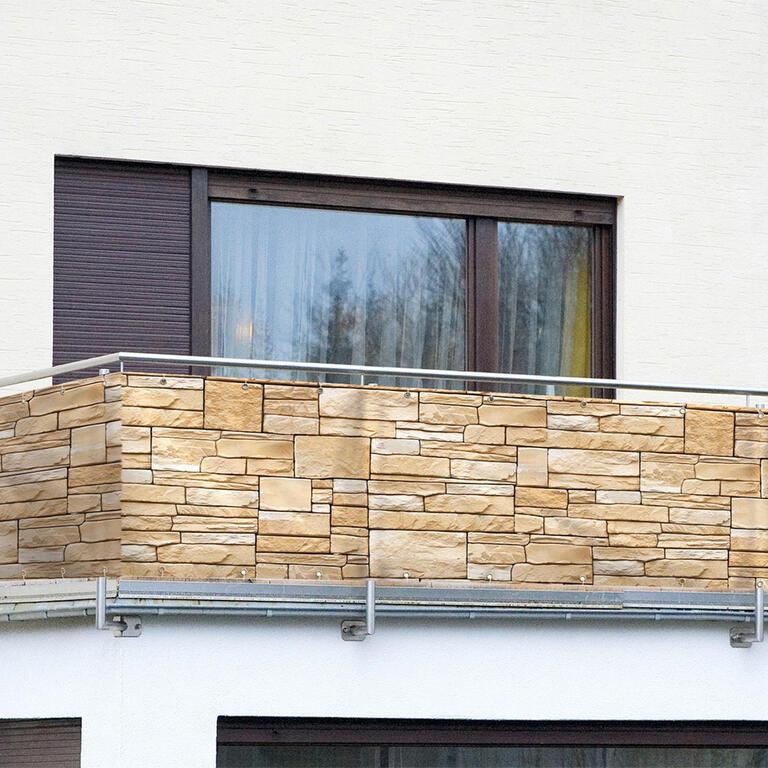 Balkonová zástěna Jarolift - 300x90cm kameny (Záruka 24 měsíců / balkonové zástěny)