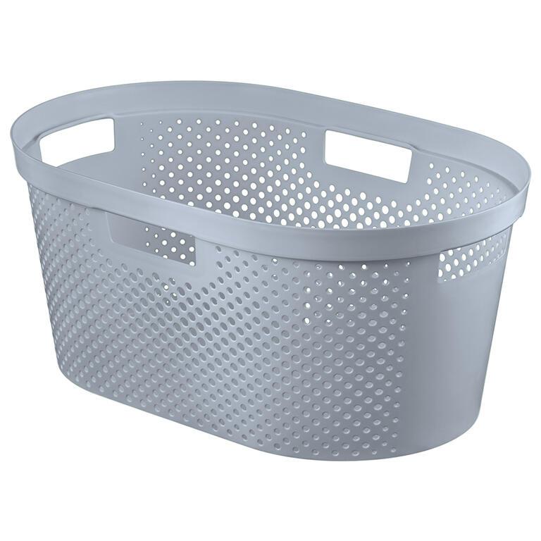 Koš na čisté prádlo INFINITY děrovaný šedý 40 l