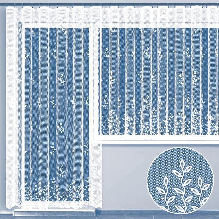 Hotová žakárová záclona JUSTÝNA - balkonový komplet