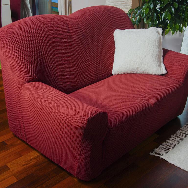 Nueva Textura decoDoma napínací potahy na sedací soupravu multielastický CARLA bordó na sedačku - dvojkřeslo 140 - 180 cm
