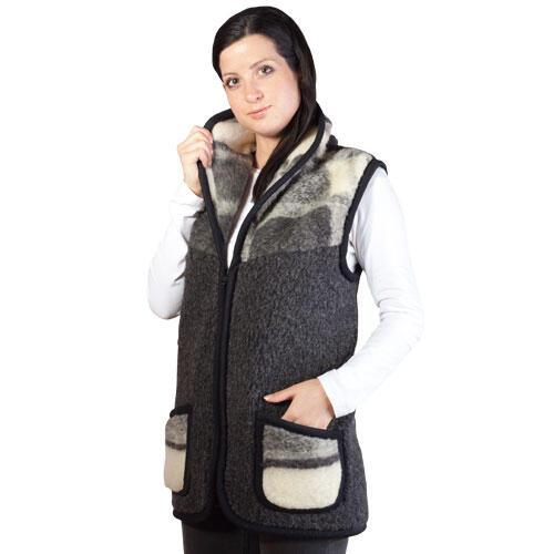 Dámská vesta z ovčí vlny XL