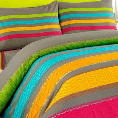 Bavlněné ložní povlečení Susan oranžové francouzská postel - 1