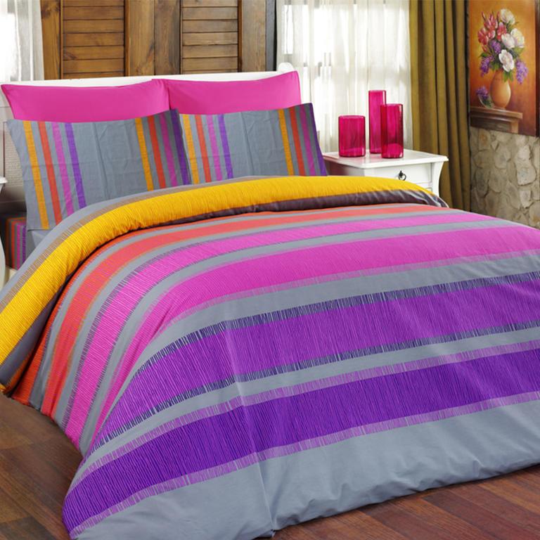 Bavlněné ložní povlečení Susan fialové standardní délka