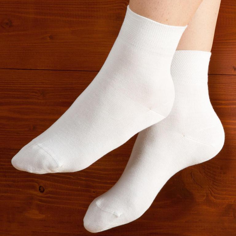 Ponožky s bambusovým vláknem 5 párů bílé|vel. 39 - 40