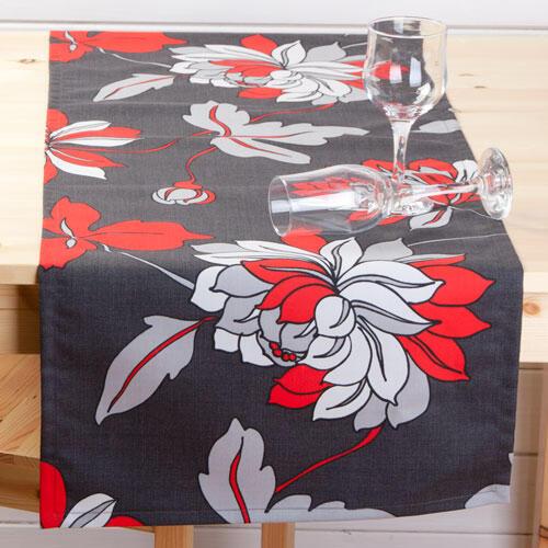 Běhoun na stůl z kolekce Moderna s květy  - 1