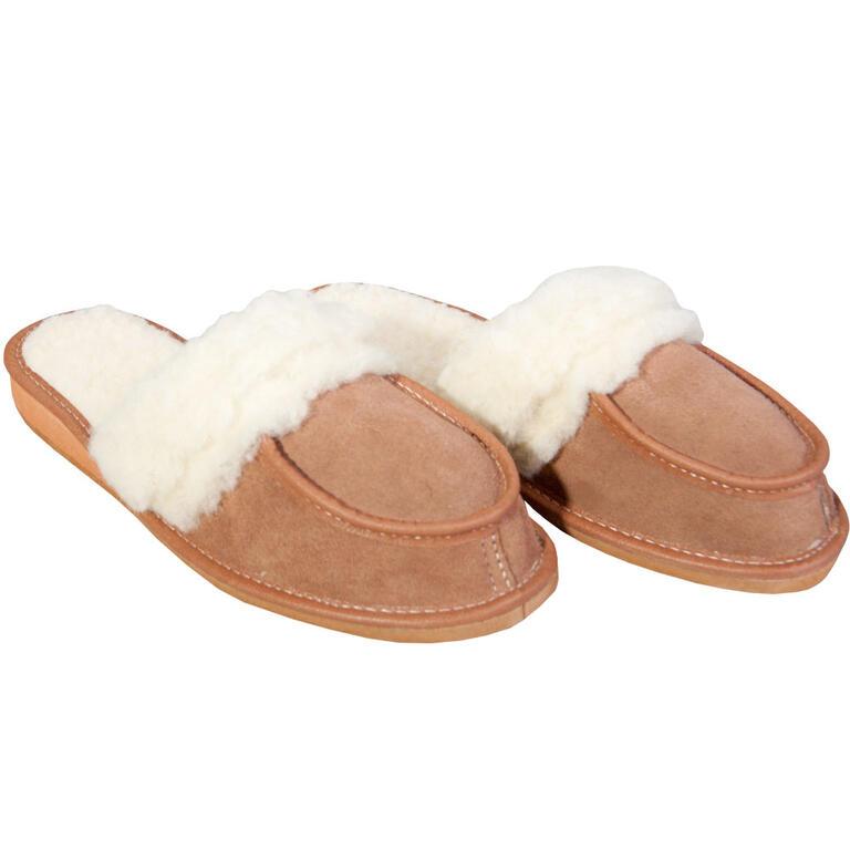 Dámské domácí rehabilitační pantofle s ovčí vlnou vel. 38 - 1
