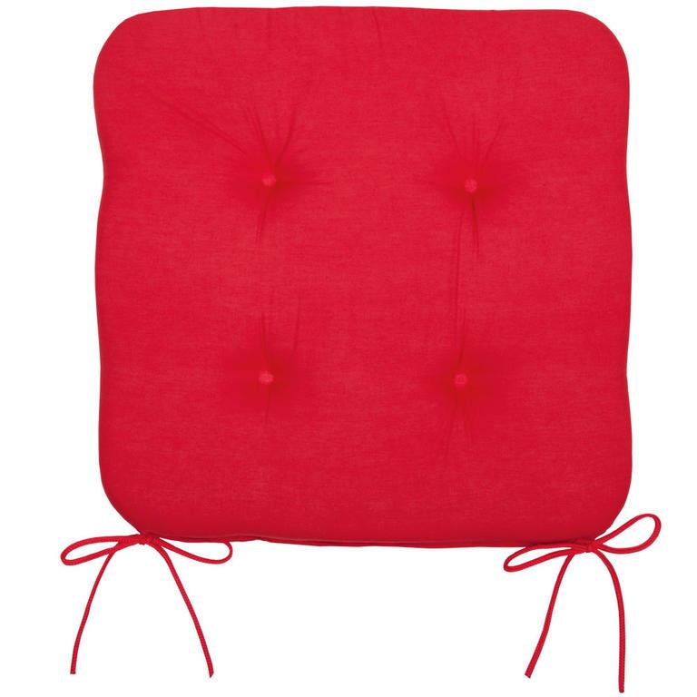 Podsedák na židli červený