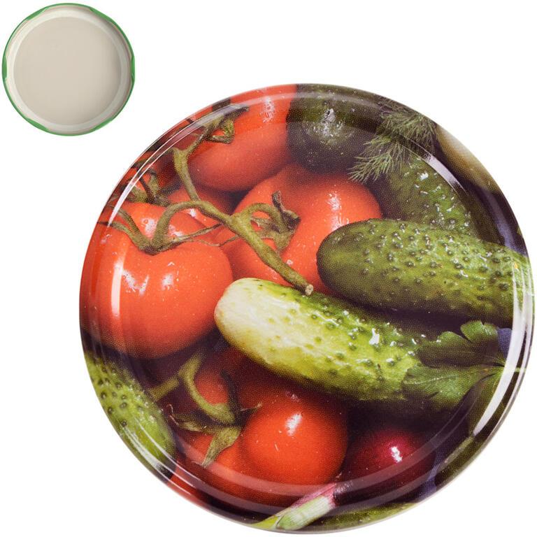 Víčka na zavařovací sklenice 8,2 cm ZELENINA A 10 ks