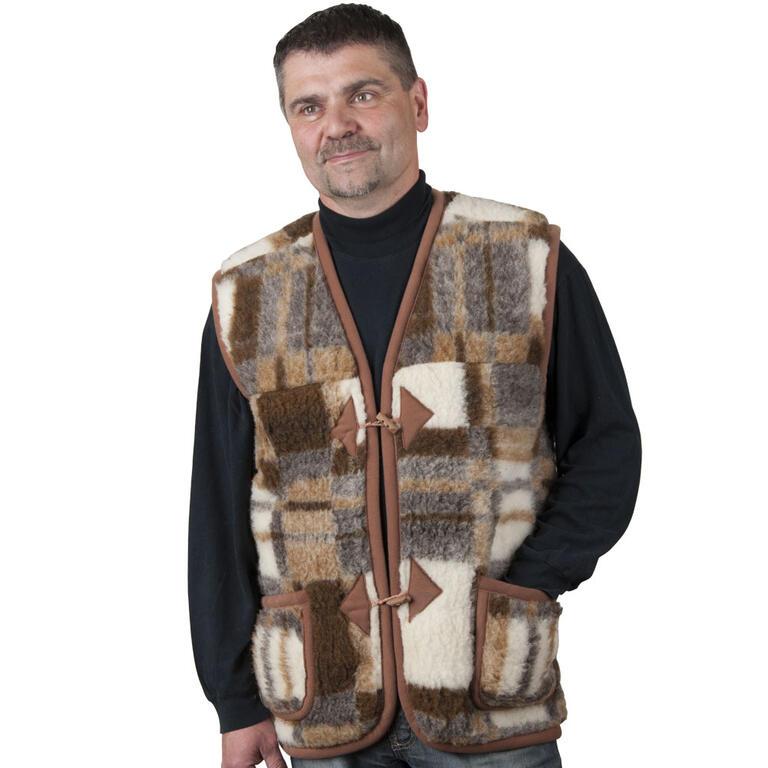 Pánská vesta z ovčí vlny XL