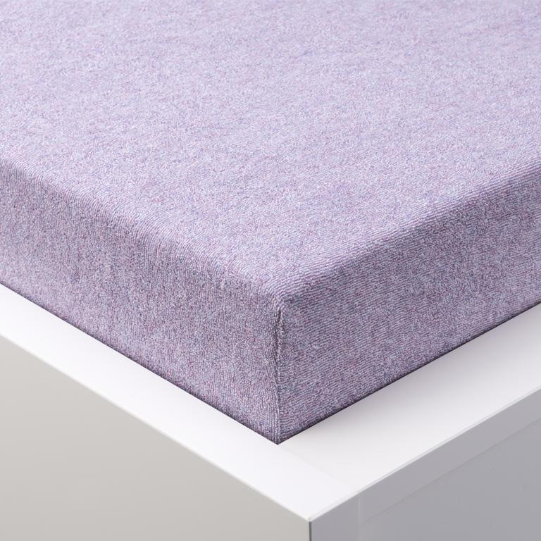 Napínací froté prostěradlo MELÉ fialová  - 1
