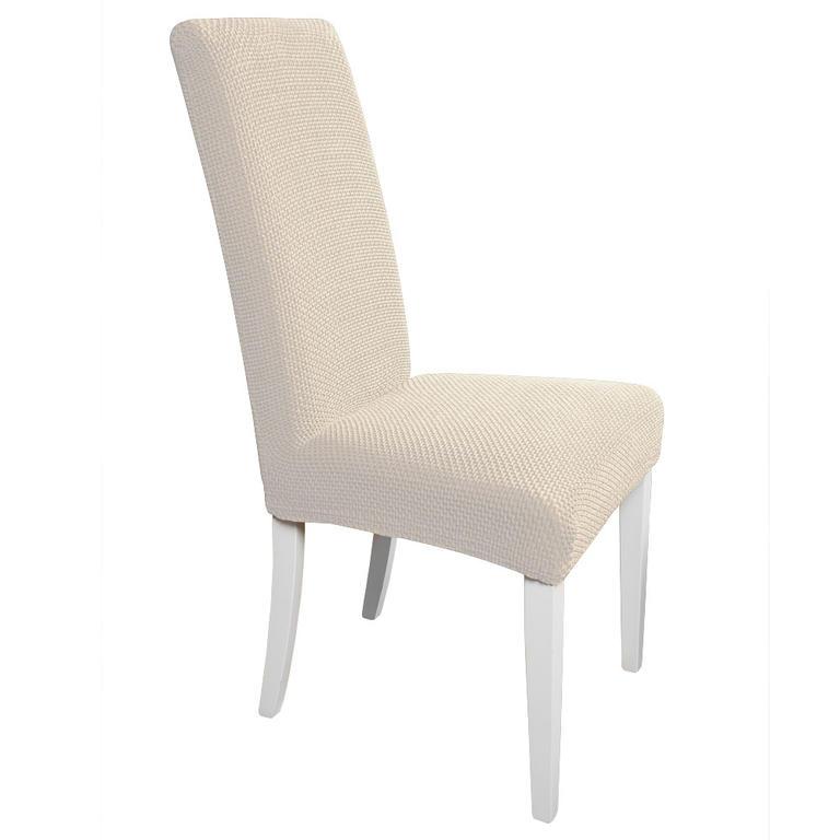 Multielastické potahy CARLA smetanové židle s opěradlem 2 ks 40 x 40 x 60 cm - 1