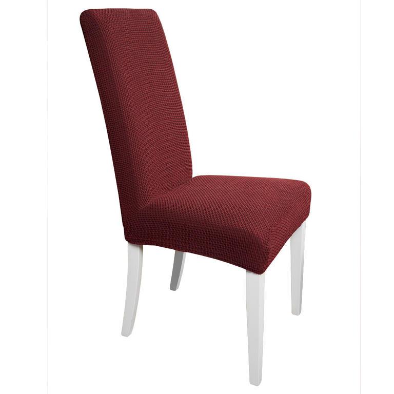 Multielastické potahy CARLA bordó židle s opěradlem 2 ks 40 x 40 x 60 cm - 1