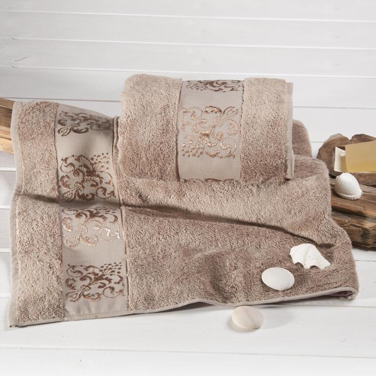 Bambusové ručníky cappucino sada 2 kusů - 1