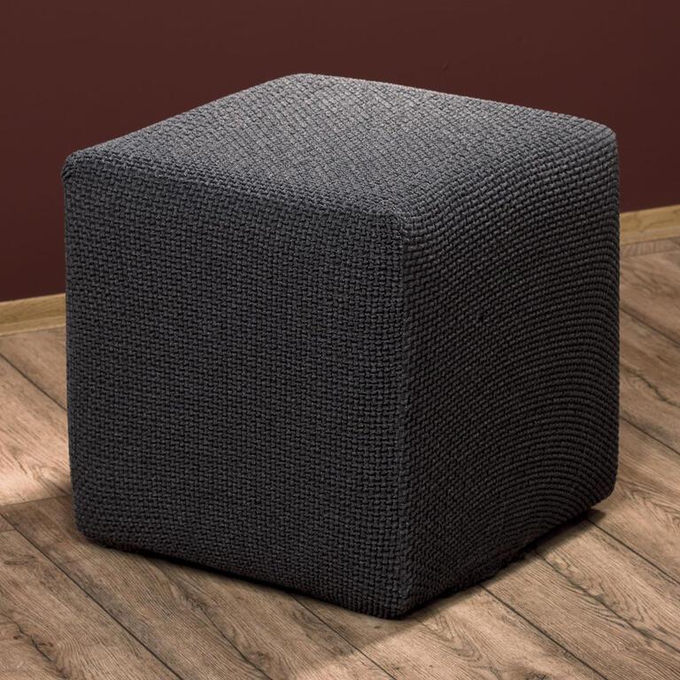 Multielastické potahy CARLA šedé taburet (45 x 45 x 45 cm) - 1