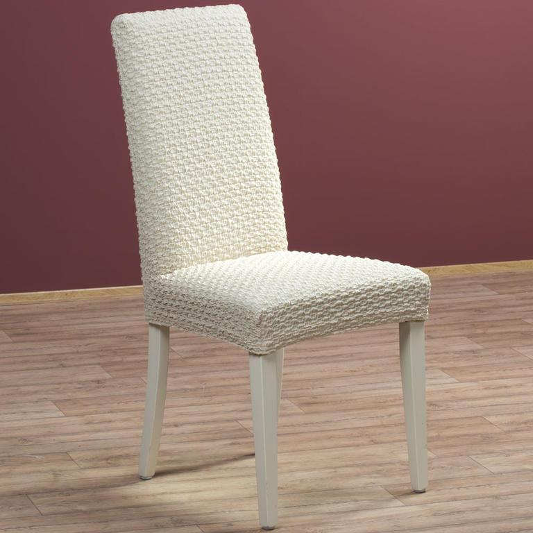 Multielastické potahy REBECA smetanové židle s opěradlem 2 ks 40 x 40 x 60 cm - 1
