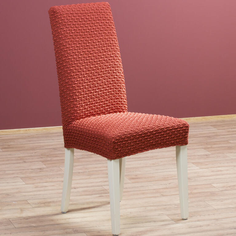 Multielastické potahy REBECA cihlové židle s opěradlem 2 ks 40 x 40 x 60 cm - 1