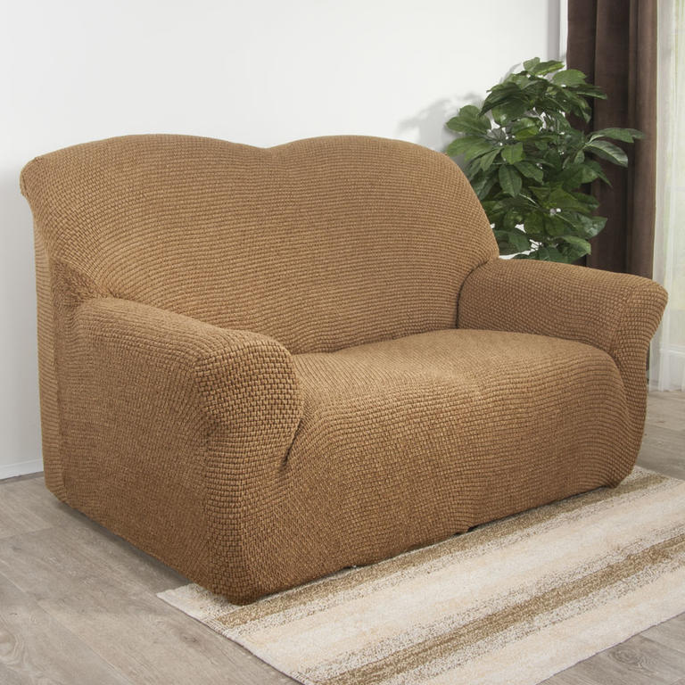 Nueva Textura Luxusní decoDoma napínací potahy na sedací soupravu multielastický ZAFIRO tabákově hnědé na sedačku - dvojkřeslo 140 - 180 cm