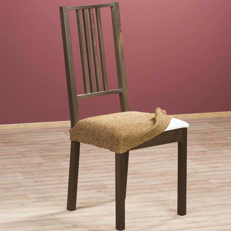 Luxusní multielastické potahy ZAFIRO tabákově hnědé židle 2 ks 40 x 40 cm