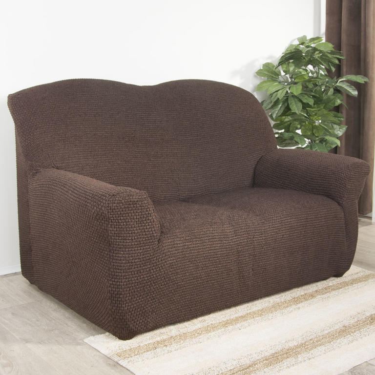 Nueva Textura Luxusní decoDoma napínací potahy na sedací soupravu multielastický ZAFIRO čokoládové na sedačku - dvojkřeslo 140 - 180 cm