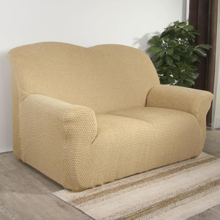 Nueva Textura Luxusní decoDoma napínací potahy na sedací soupravu multielastický ZAFIRO gold na sedačku - trojkřeslo 180 - 220 cm