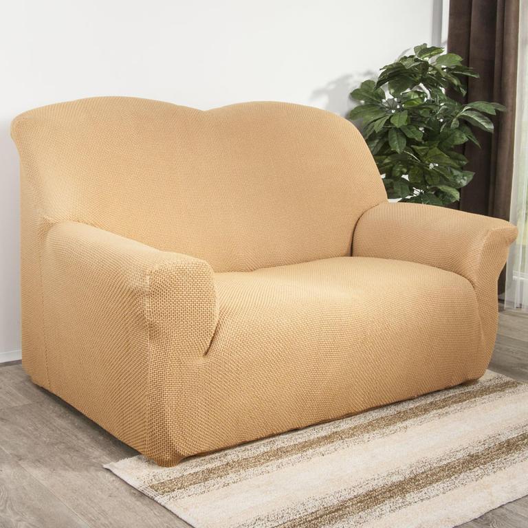 Nueva Textura decoDoma napínací potahy na sedací soupravu multielastický CARLA gold na sedačku - dvojkřeslo 140 - 180 cm
