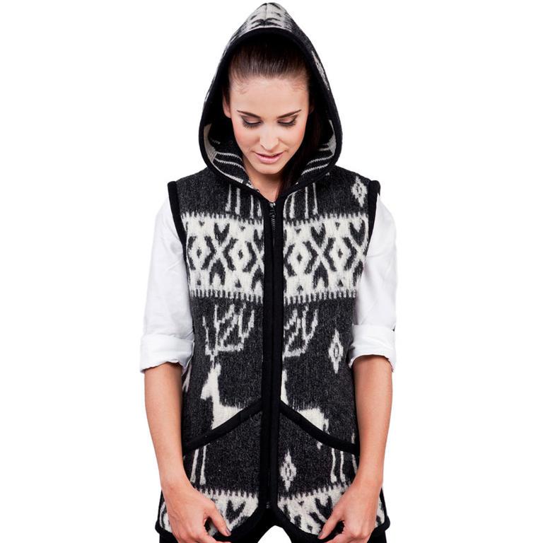Dámská vesta z ovčí vlny Everest černá XL