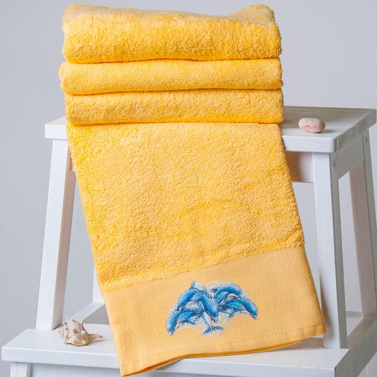 Ručníky a osuška Delfín žluto-oranžové