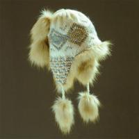 Dámská zimní čepice s kožešinou - 1/4